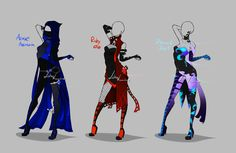 Outfit design - 236 - 238  - closed by LotusLumino on @DeviantArt