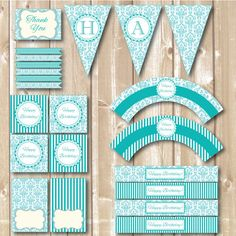 Birthday Party Tiffany package. Tiffany style by Alapipetuadesign