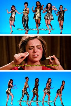 """Or calling out the disconnect between """"empowering"""" pop songs and the traditional standard of beauty that always accompanies them. 