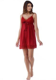 Silk women nightwear babydolls--Winy-Red babydolls #Silk #babydolls | Revesilk.com
