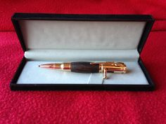Mini 30 Caliber Gold bolt action bullet pen by PhilsWoodTurning
