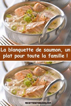 Salmon blanquette a dish for the whole family! Baked Chicken Recipes, Fish Recipes, Seafood Recipes, Clean Recipes, Cooking Recipes, Healthy Recipes, Healthy Family Dinners, Kids Meals, Chicken Curry Salad