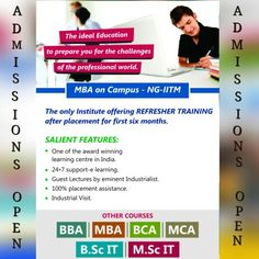 Admissions open Ng-iitm an authorised learning centre of Sikkim Manipal University DE. For more information call Bhawana Rajwar: 09099053042 Kapil Patel: 08128688729