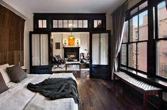 Luxe slaapkamer van 1-kamer appartement New York | Interieur inrichting