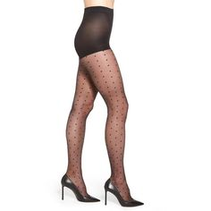Women's Nordstrom Polka Dot Pantyhose (18 CAD) ❤ liked on Polyvore featuring intimates, hosiery, tights, black, high waisted tights, dotted stockings, sheer tights, pantyhose tights and nordstrom pantyhose