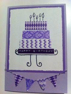 kaart taart paars