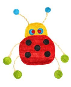 Eco-Loofah Original Play and Scratch Station Pet Toy, Ladybug Design -- To view further for this item, visit the image link.