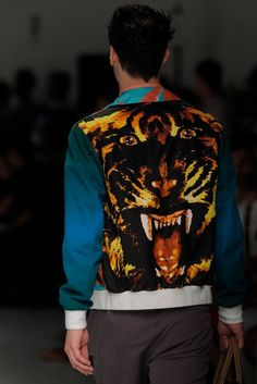 Vivienne Westwood MAN SS14 - The reverse of the tiger jacket. To view the collection in its entirety, visit ow.ly/mqON9