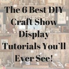 The 6 Best DIY Craft Show Display Tutorials You'll Ever See! So here is a list of six of the best 4 to video tutorials for making your own great looking and budget-friendly craft show display stands.craftmakerpro… Source by craftmakerpro Craft Show Displays, Craft Show Booths, Vendor Displays, Craft Show Ideas, Display Ideas, Booth Ideas, Flea Market Displays, Stall Display, Vendor Booth
