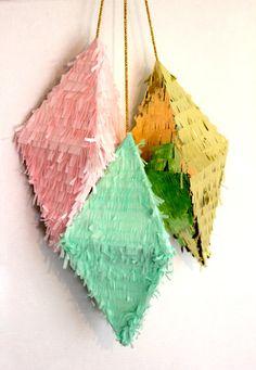 Pyramid Pinatas (set of 3) on Etsy, $45.00