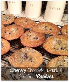 Chewsy chocolate chunk and sea salt cookies - Love sweet and salty