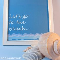 Lets go to the beach printable