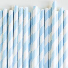 Paper Straws: Powder Blue Stripes – Shop Sweet Lulu