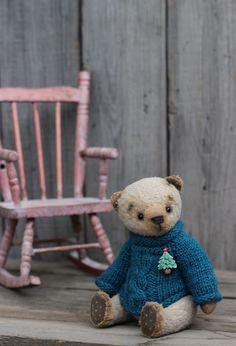 Teddy Bears handmade. Fair Masters - handmade. Buy Teddy Bear Seraphim. Handmade. Beige, winter -  Sozonova Julia
