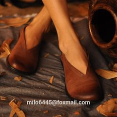 2015 Artmu Women Flats Single Shallow Mouth Genuine Leather Rubber Flats Handmade Shoes -in Women's Flats from Shoes on Aliexpress.com | Alibaba Group