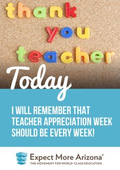 We've decided a week is not enough. We're declaring this year Teacher Appreciation Year! And the year after that. And the following year. And the next one. And the year after that (you get the idea)…  Find more ways to show your support for students & teachers Today and every day at http://TodayInAZ.org/ #TodayInAZ #AZTeachersRock #ThankATeacher