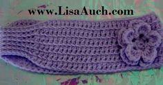 Easy Crochet Headband Earwarmer Pattern. Free Crochet Patterns for easy crochet headbands.
