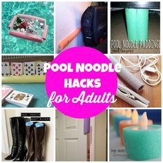 More Pool Noodle Hacks...for Adults!  via createcraftlove.com