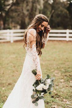 Wedding inspiration • lace bridal dress