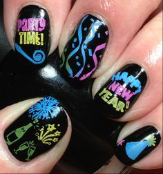 New Years Eve Party Nails!