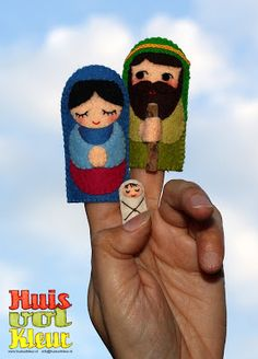 Pesebre finger puppets