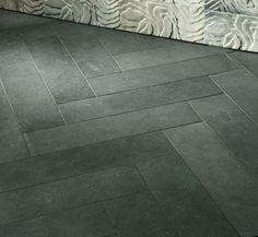 Kitchens .com - Fun with Flooring - Ann Sacks Galaxy Black Limestone Tiles