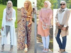 pastel hijab outfits, Stylish hijabi street styles http://www.justtrendygirls.com/stylish-hijabi-street-styles/