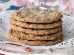 I love oatmeal cookies that are thin, buttery and chewy, not thick and cakey.  The Toronto Star named these the Best Oatmeal Cookie.  I can't wait to make these and dunk them in a glass of milk!