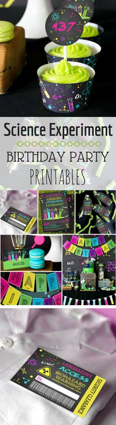 Science Birthday Party Theme | Science Experiment Birthday Party | Science Party Printables #ad #affiliate