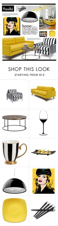 """""""Sushi Night"""" by marina-volaric ❤ liked on Polyvore featuring interior, interiors, interior design, home, home decor, interior decorating, Thrive, Nixon, Riedel and Flos"""