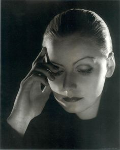 Stunning Black and White Portraits of Swedish Film Star Greta Garbo Taken by Renown Photographer Clarence Bull