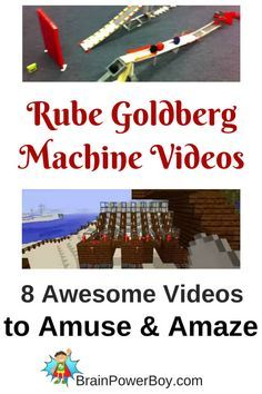 8 Rube Goldberg Machine Videos you and your kids will love including LEGO and Minecraft machines.