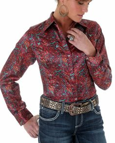 WRANGLER RODEO Western Barrel RACER Silky Show SHIRT COWGIRL  NWT SMALL #wrangler #Western  $29! FREE SHIP!