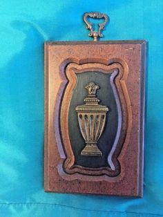 """Trophy Plaque Walnut Brown Black Decorative Brass Hanger 5""""x7""""x.5"""""""