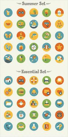 Freebie: Summer And Essentials Icon Set (50 Icons, EPS, AI, PNG) | Smashing Magazine