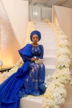 BellaNaija Weddings Presents the Magnificent Northern Fairytale Wedding of Muhammed Buhari & Asmau Garo! African Fashion, African Wear, African Style, African Beauty, Nigerian Traditional Wedding, Traditional Weddings, Igbo Bride, Different Wedding Dresses, Lace Gown Styles