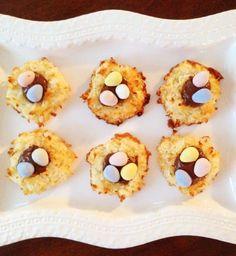 Coconut Macaroon Nutella Nests