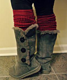 DIY boot cuffs / leg warmers
