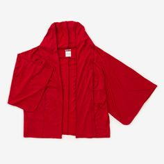 Haori Long Cardigan Wool Ruby Red  Available at the Sou Sou San Francisco shop and our online www.sousouus.com
