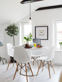 bright dining space