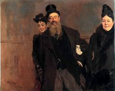Giovanni Boldini John Lewis Brown with Wife and Daughter on × 145 cm × in)Current location Museu Calouste Gulbenkian Giovanni Boldini, John Singer Sargent, Italian Painters, Italian Artist, Edgar Degas, John Lewis, John William Waterhouse, Art Ancien, William Turner