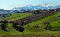 i Monti Sibillini visti da Macerata