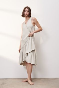 Vestidos Zara, Zara Outfit, Zara Dresses, V Neck Dress, Ruffle Trim, Double Breasted, Wrap Dress, Lace Up, Outfits
