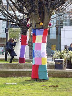 yarnbombing Hackney East London