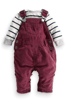 Buy Berry Cord Dungarees And Bodysuit Set (0-18mths) from the Next UK online shop