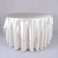 #Ivory 60 x 60 Inch Square #Satin Overlays http://www.yourweddinglinen.com/Ivory-60-x-60-Inch-Square-Overlays-p/6060118.htm