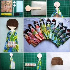 How to Make Traditional Japanese Paper Doll | www.FabArtDIY.com