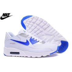 on sale 709cc 57c7f Mens Nike Air Max 90 Fireflies Shoes White Royal Blue Royal Blue Sneakers,  Nike Sneakers