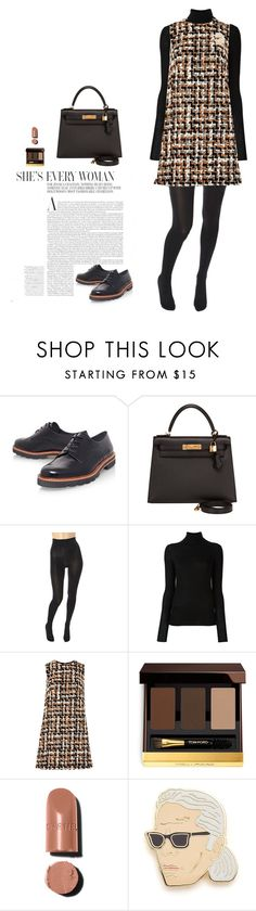 """University look"" by djulia-tarasova ❤ liked on Polyvore featuring Stuart Weitzman, Hermès, Wolford, Joseph, Dolce&Gabbana, Tom Ford and Georgia Perry"