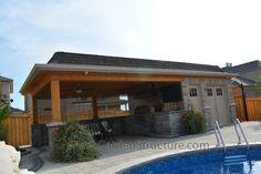 modern pool house - Google Search